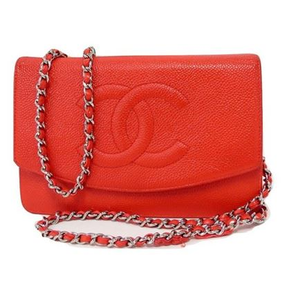 Image of Chanel red caviar WOC
