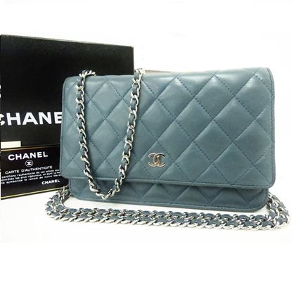 Image of Chanel WOC grey blue