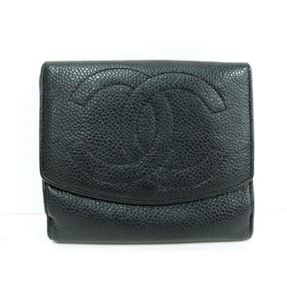 Image of Chanel black caviar wallet