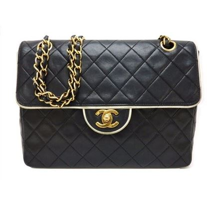Image of Chanel bi-color flap bag