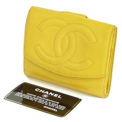 Image of Chanel yellow wallet