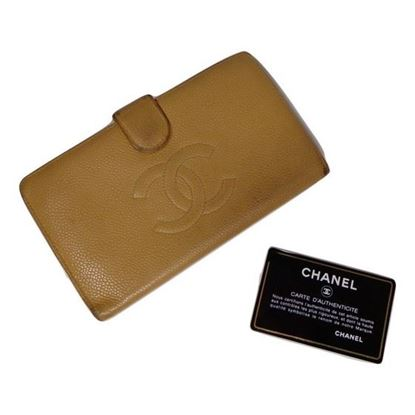 Image of Chanel CC beige wallet