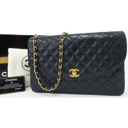 Image of Chanel navy classic bag
