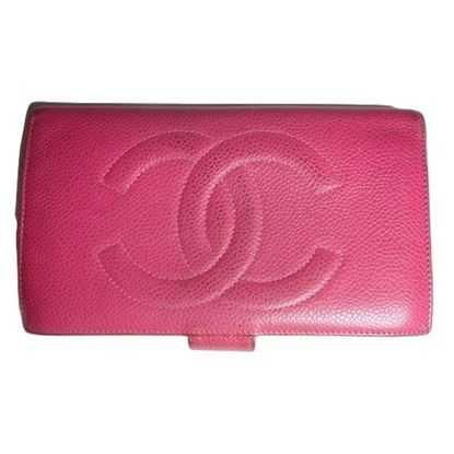 Image of Chanel  pink caviar wallet