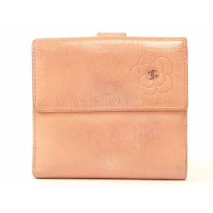 Image of Chanel pink camellia wallet