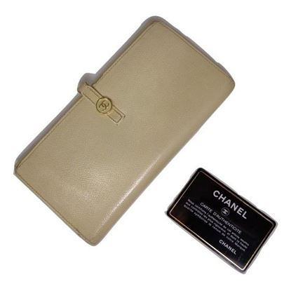 Image of Chanel white long wallet