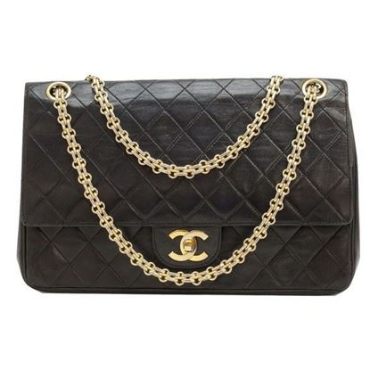 Image of Chanel 2.55 medium double flap bag with mademoiselle chain