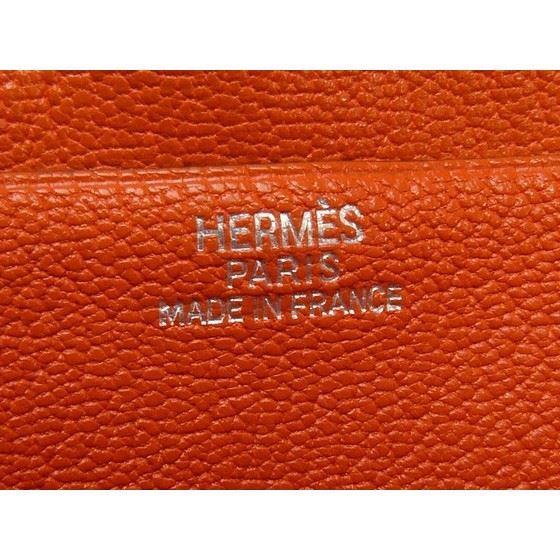 Picture of Hermes Bearn classic orange wallet