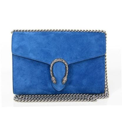 Image of Gucci Dionysus blue suede bag