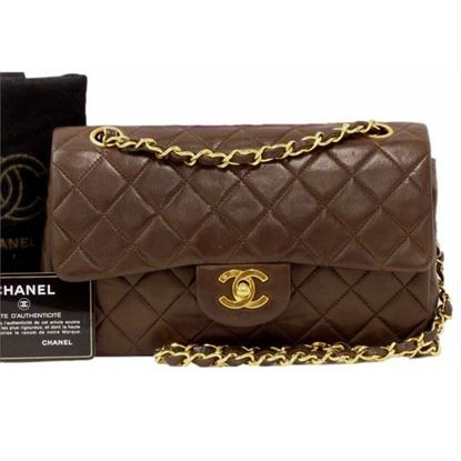 Image of Chanel dark brown timeless 2.55 double flap bag