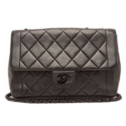 Image of Chanel so black double chain crossbody bag