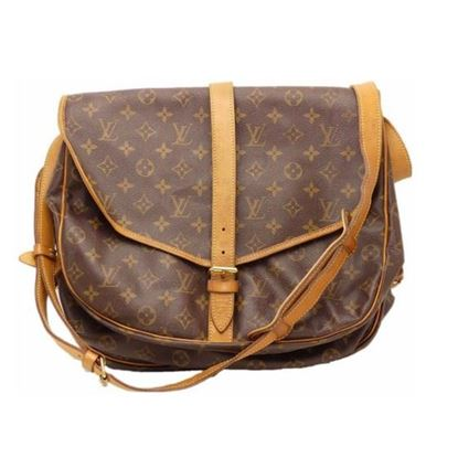 Image of LOUIS VUITTON Monogram Saumur 35 crossbody bag