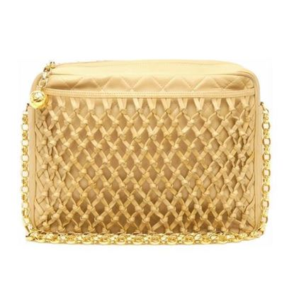 Image of CHANEL Beige Lambskin Leather Braided bag
