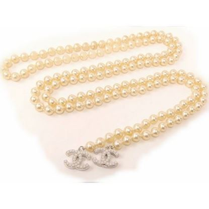 Image of CHANEL Pearl with Coco Charm Long Lariat Necklace