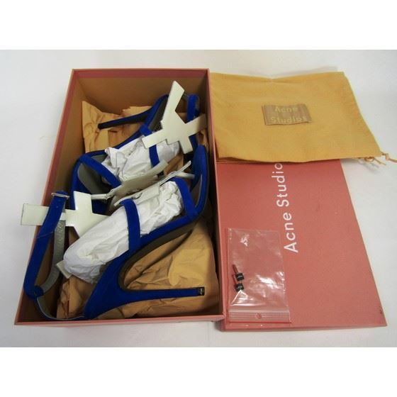 Picture of ACNE STUDIOS suede and patent-leather sandal