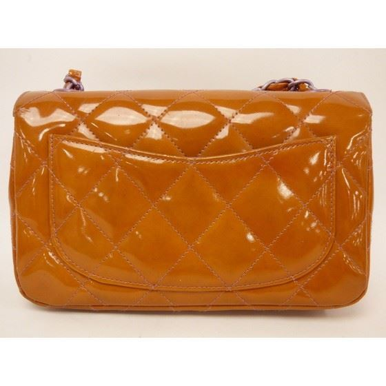 Picture of Chanel timeless orange patent leather crossbody bag