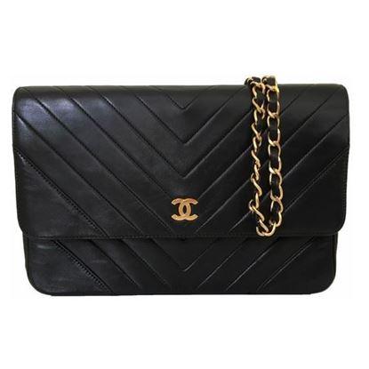 Image of Chanel chevron medium flap bag