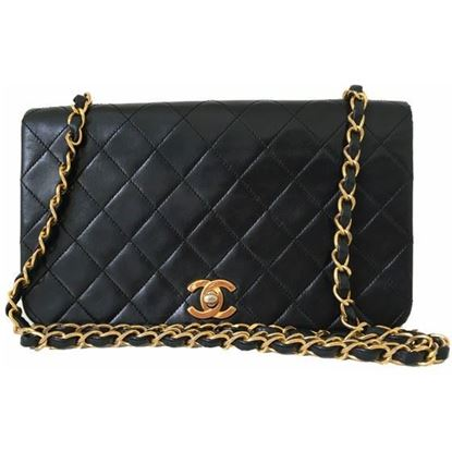 Image of Chanel fullflap crossbody bag with turnlock