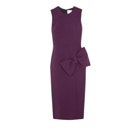 Image of Roksanda Laurana bow-embellished stretch-cady dress
