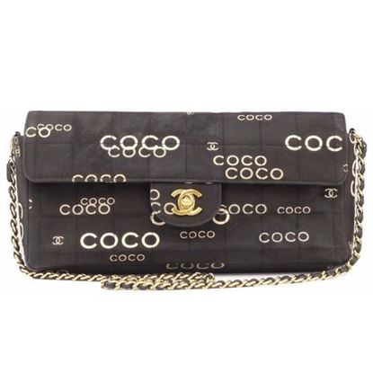 Image of CHANEL Black COCO Canvas East West  Bag