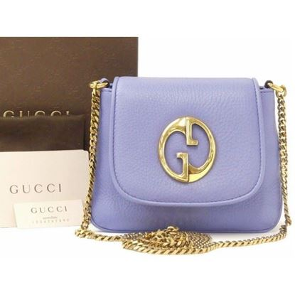 Image of Gucci blue soho 1973 disco crossbody bag