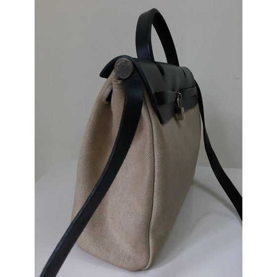 Picture of HERMES Toile Herbag 31 PM 2 In 1 Bag Beige & Black