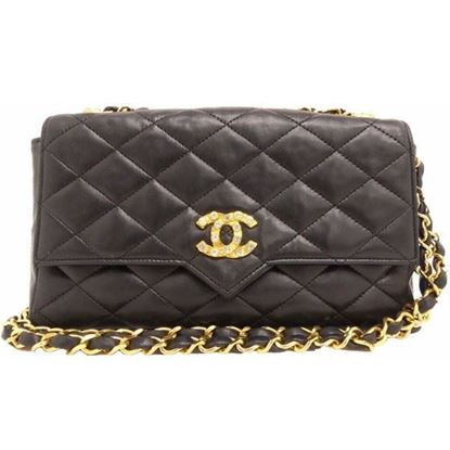 Image of Special piece: Chanel crossbody bag with rhinestone CC
