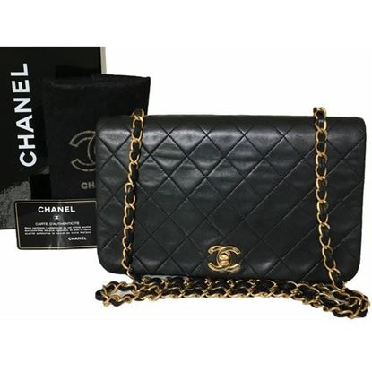 Image of Chanel 2.55 timeless fullflap crossbody bag with turnlock