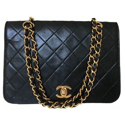 Image of Chanel timeless double chain turnlock classic bag