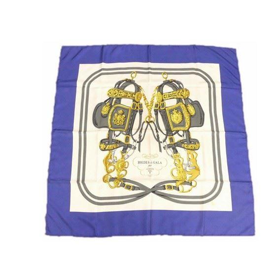 Picture of Hermes 'brides de gala' blue multicolor scarf/stola