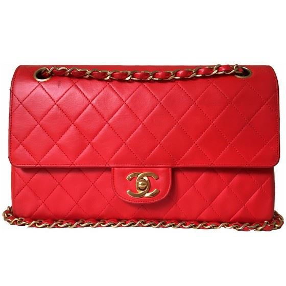 Picture of Chanel medium 2.55 red double flap bag