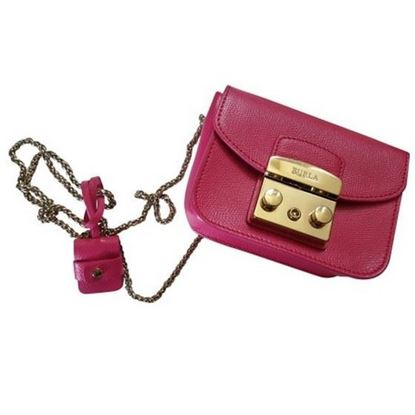 Image of Furla hot pink metropolis bag