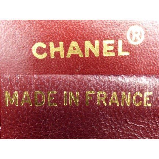 Picture of Chanel black lambskin chevron medium double flap bag