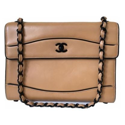 Image of Special piece: Chanel bicolor lambskin bag with black hardware