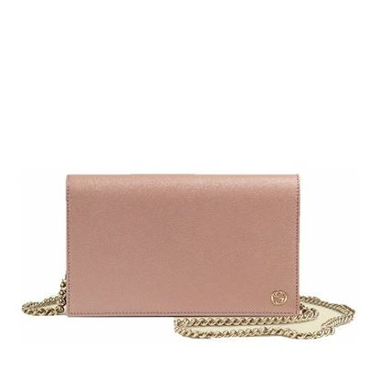 Image of GUCCI betty leather crossbody wallet on chain bag