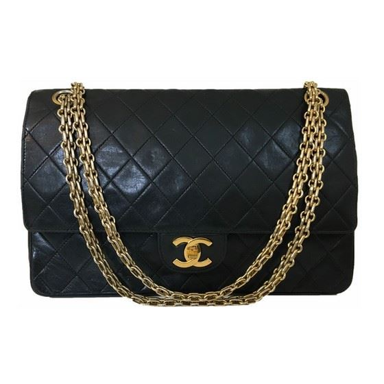 Picture of Chanel medium/large double flap bag with mademoiselle chain