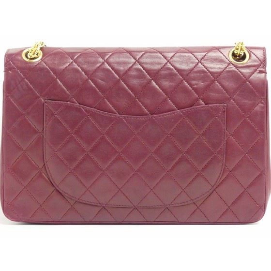 Picture of Chanel burgundy medium 2.55 double flap bag with mademoiselle chain