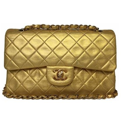 Image of Chanel timeless 2.55 gold double flap bag