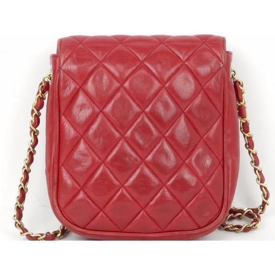 Picture of Chanel  timeless classic red flap bag