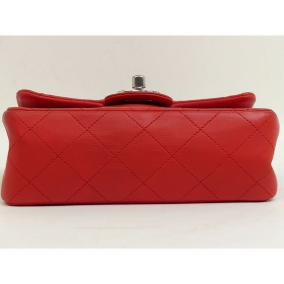 Picture of Chanel red timeless 2.55 square mini bag with silver hardware