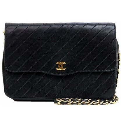 Image of Chanel chevron flap bag