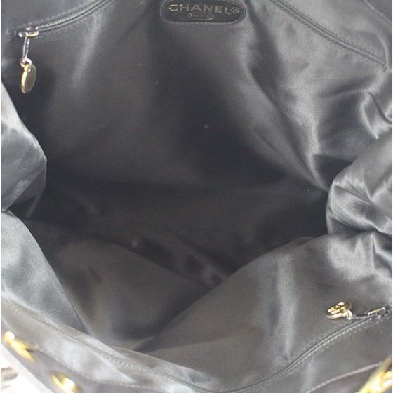 Picture of CHANEL Black Lambskin Leather  Grand  Shopper Tote Bag