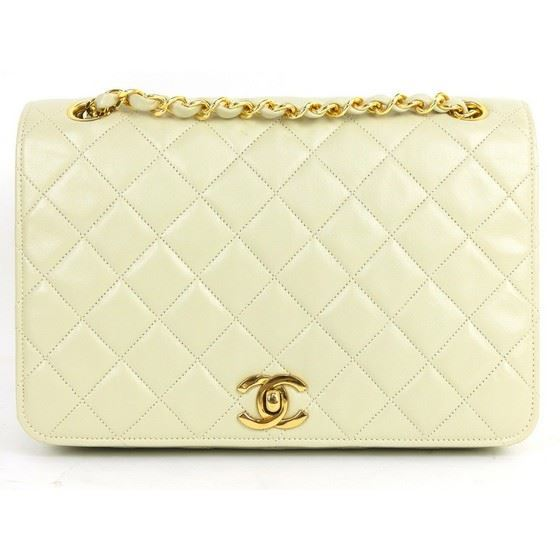 Picture of Chanel 2.55 timeless beige fullflap double chain classic bag