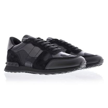 Image of Valentino rockrunner camou noir sneakers