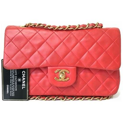Image of Chanel small 2.55 red double flap bag