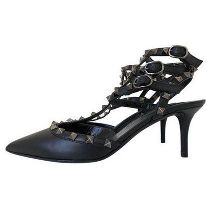 Image of Valentino rockstud heels black