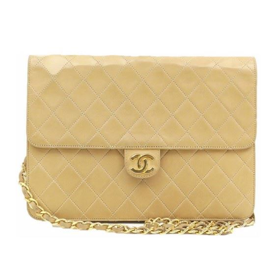 Picture of Chanel beige medium 2.55 classic flap bag