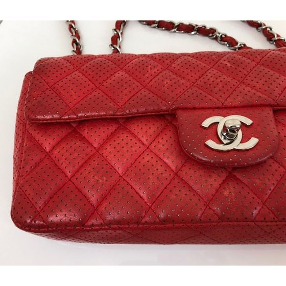 Picture of Chanel red 2.55  timeless double chain bag