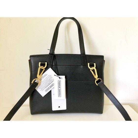 Picture of Mansur Gavriel mini lady bag in black flamma