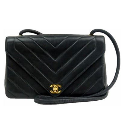 Image of SPECIAL PIECE: Chanel chevron flap bag.